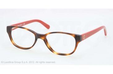 Tory Burch TY2031 Eyeglass Frames 1162-49 - Amber Orange Frame, Demo Lens Lenses