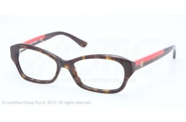 Tory Burch TY2037 Bifocal Prescription Eyeglasses 510-49 - Dk Tortoise Frame