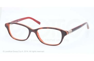 Tory Burch TY2042 Progressive Prescription Eyeglasses 1277-51 - Tortoise/Orange Frame
