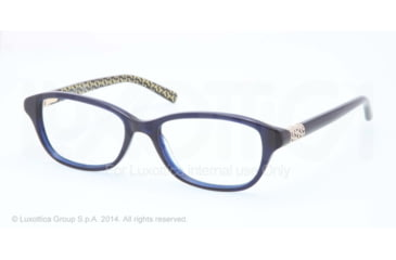 Tory Burch TY2042 Progressive Prescription Eyeglasses 1304-51 - Navy W T Print Frame