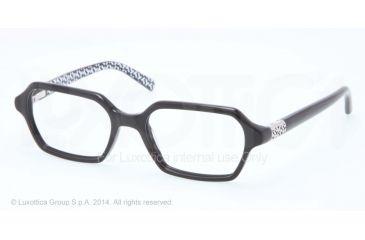 Tory Burch TY2043 Progressive Prescription Eyeglasses 1305-50 - Black W T Print Frame