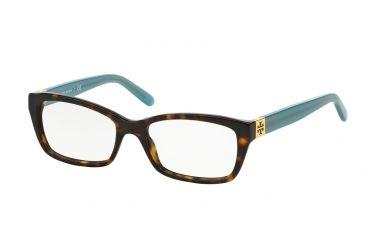 cc5e15fd9bd1 Tory Burch TY2049 Eyeglass Frames 1359-51 - Tortoise Milky Fountain Frame