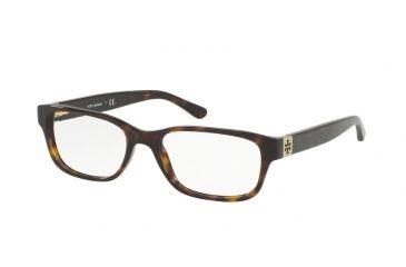 1daa4d4b87 Tory Burch TY2067 Progressive Prescription Eyeglasses 1378-52 - Dark  Tortoise Frame