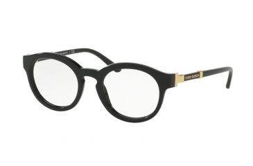 7d674e905bbd Tory Burch TY2076 Single Vision Prescription Eyeglasses 1377-48 - Black  Frame