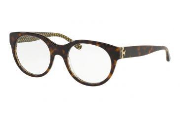 ccd1d9cbf1 Tory Burch TY2085 Eyeglass Frames 1734-50 - Dark Tort   Green Zig Zag T