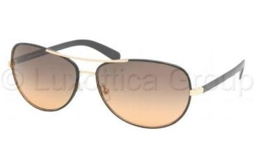 Tory Burch TY6013Q TY6013Q Progressive Prescription Sunglasses TY6013Q-943-95-6014 - Lens Diameter: 60 mm, Frame Color: Black Leather