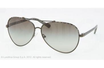 Tory Burch TY6021Q Sunglasses 398/8E-6212 - Grey Python Frame, Green Gradient Lenses