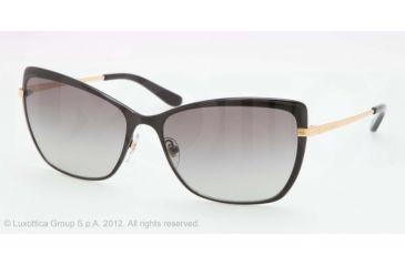 Tory Burch TY6028 Progressive Prescription Sunglasses TY6028-10711-59 - Lens Diameter 59 mm, Lens Diameter 59 mm, Frame Color Black