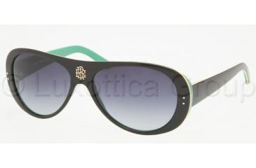 Tory Burch TY7016 Single Vision Prescription Sunglasses TY7016-918-11-5715 - Lens Diameter: 57 mm, Frame Color: Black / Yellow/ Green