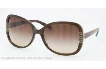 Tory Burch TY7022 Progressive Prescription Sunglasses TY7022-110913-59 - Lens Diameter 59 mm, Frame Color Olive Block