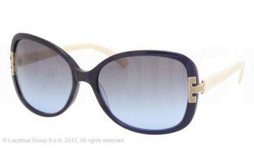 Tory Burch TY7022 Progressive Prescription Sunglasses TY7022-937-17-59 - Lens Diameter 59 mm, Frame Color Navy Cream