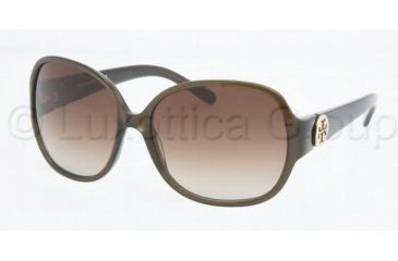Tory Burch TY7026 Single Vision Prescription Sunglasses TY7026-735-13-5916 - Lens Diameter: 59 mm, Frame Color: Olive