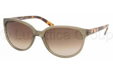 Tory Burch TY7027 Progressive Prescription Sunglasses TY7027-958-13-5618 - Lens Diameter: 56 mm, Frame Color: Olive Spotty Tort