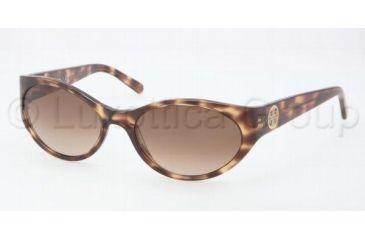 Tory Burch TY7038 Single Vision Prescription Sunglasses TY7038-104413-5718 - Lens Diameter 57 mm, Frame Color Tiger Tortoise