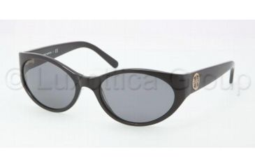 Tory Burch TY7038 Sunglasses 501/11-5718 - Black Frame, Grey Gradient Lenses
