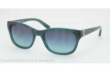 Tory Burch TY7044 TY7044 Progressive Prescription Sunglasses TY7044-11024S-5418 - Lens Diameter 54 mm, Frame Color Lagoon Green