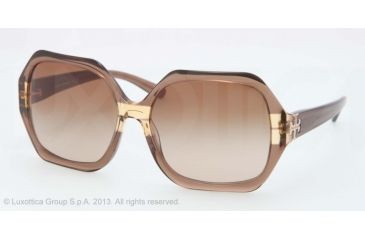 Tory Burch TY7051 TY7051 Progressive Prescription Sunglasses TY7051-112513-58 - Lens Diameter 58 mm, Lens Diameter 58 mm, Frame Color Brown Gold Striped