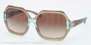 Tory Burch TY7051 TY7051 Progressive Prescription Sunglasses TY7051-112613-58 - Lens Diameter 58 mm, Lens Diameter 58 mm, Frame Color Olive Teal Striped