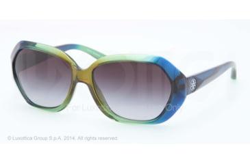Tory Burch TY9021 TY9021 Single Vision Prescription Sunglasses TY9021-127211-57 - Lens Diameter 57 mm, Frame Color Blue Green Hombre