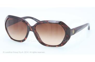 Tory Burch TY9021 TY9021 Single Vision Prescription Sunglasses TY9021-51013-57 - Lens Diameter 57 mm, Frame Color Tortoise