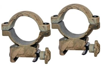 Traditions 1 Inch Aluminum Scope Ring High Realtree Hardwoods HD Camouflage