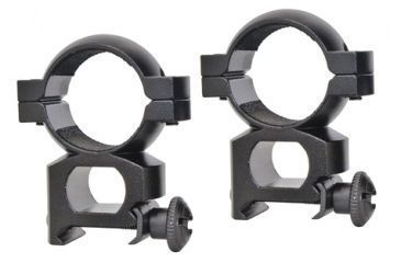 Traditions 1 Inch Aluminum Scope Ring Quick Peep Matte Black