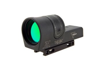 Trijicon 42mm Reflex Amber 4pt5 Reticle Sight Black W Weaver Mount Rx34 11 Front V1