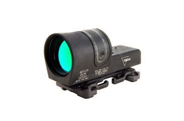 Trijicon 42mm Reflex Amber 4pt5 Moa Dot Reticle Sight Black Throw Lever Flattop Mount Rx34 23 Front V1