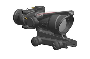 trijicon 4x32 acog scope dual illuminated red horseshoe dot reticle