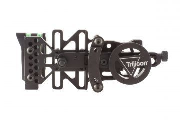 Trijicon AccuPin Bow Sight - Green w/ Dovetail Base & Larger Screw on AccuDial Mount, Left Hand, Black BW51G-BL