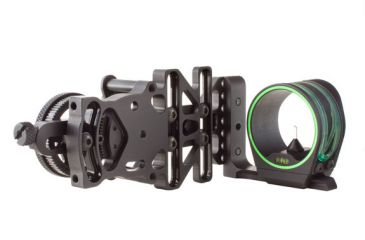 Trijicon AccuPin Bow Sight Green with AccuDial Mount LH- Black BW51G-BL