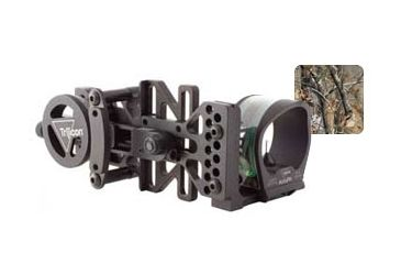 Trijicon AccuPin Green w/Dovetail Base & AccuDial Mt RH - RealTree AP BW50G-RT