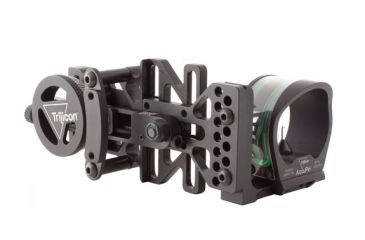 Trijicon Right AccuPin Bow Sight Green with AccuDial Mount RH- Black