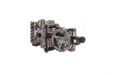 Trijicon AccuPin Bowsight - Green w/Dovetail Base & AccuDial Mount, Left Hand, Real Tree AP BW51G-RT