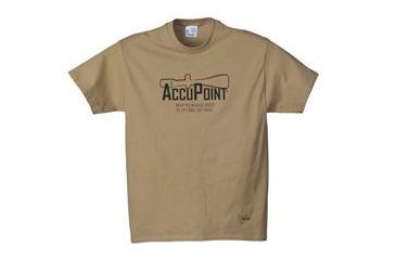 Trijicon Short Sleeve Graphic T-Shirt w/AccuPoint Tagline - Medium, Sand AP40M