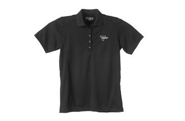 Trijicon Womens Short Sleeve Polo Shirt w/Tirjicon Logo - Medium, Black AP46M