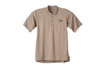 Trijicon Performance Polo Short Sleeve Shirt - Small, Khaki AP23S
