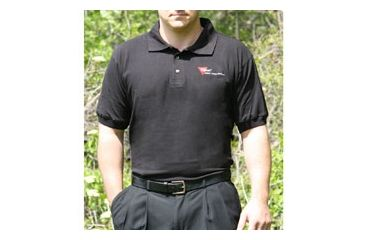 Trijicon Polo Shirt w/2 Color Trijicon Logo - Small, Black AP19S