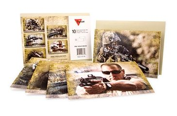 Trijicon Set of 10 Themed Note Cards, Tactical PR62