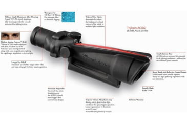 ACOG Trijicon Combat Optics Rifle Scope Info