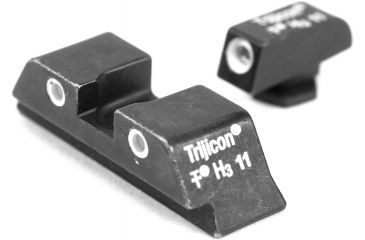 Trijicon Three Dot Night Sight Set, Green Front & Yellow Rear - Glock 17/19/22/23/24/26/27/33 - GL01Y