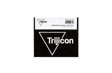 Trijicon White Vinyl Decal, 3.5x2.5 in. PR59
