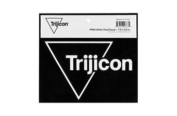 Trijicon White Vinyl Decal, 7x5 in. PR60