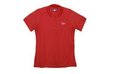 Trijicon Women's Short Sleeve Polo Shirt w/ Trijicon Logo, Red, Extra Large AP55-XL