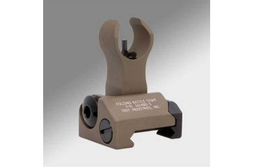 Troy Folding Battle Sight Front with HK style housing and M4 Post - Flat Dark Earth