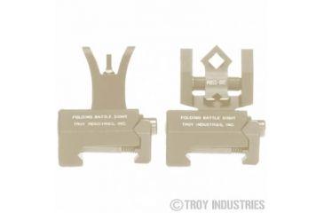 Troy Micro - M4 Front & Doa Rear Folding Sights - Flat Dark Earth SSIG-MCM-SSFT-00