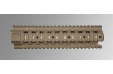 Troy 9 in. Modular Rail Forend for Mid Length Carbines - Flat Dark Earth