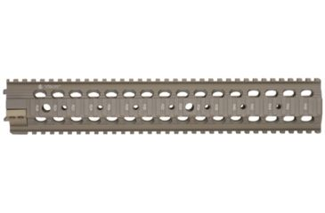 Troy 13.5 in. Rifle Extended Modular Rail Forend for SPR type set-ups - Flat Dark Earth