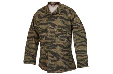 Tru Spec 1619002 Vietnam Tiger Stripe Cottonpoly Twill Bdu Coat Extra Small