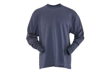 Tru-Spec 24-7 TAC LS Tee-Shirt 100% Poly Jersey Knit, Navy, Small Regular 4319003